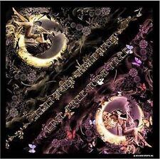 """Fairy Biker Flowers Butterflies Moon Rider Bandana 21""""x21"""" BIKER NEW BAN-0046"""