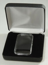 BLACK LEATHERETTE DISPLAY BOX FOR VERTICAL 1oz. SILVER BAR With AIRTITE HOLDER