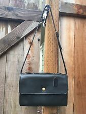Vintage Classic Coach Avenue Bag 9886 Black Leather USA Spring Lock Court Handle