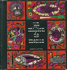 Un million de menus 1965 Cuisine gastronomie recette