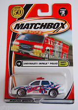 Matchbox 50 Years Chevy Impala Dare Poilice Logo