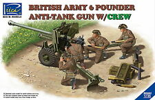 Riich Models RV35042 1/35 British Army 6 Pounder Anti-Tank Gun w/Crew