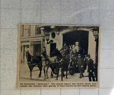 1902 American Fire Station Turnout, Alarm Opens Street Doors