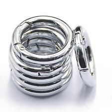 6x Round Spring Snap Circle Carabiner Camping Snap Hook Keychain Hiking 25mm