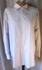 Brooks Brothers 17 34 Blue Non-Iron Egyptian Cotton Long Sleeve Dress Shirt Man