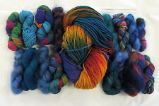 17 oz Mountain Colors MILL ENDS Hand Painted Wools & Mohair Yarn - Mixed Lot