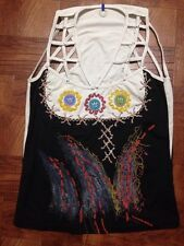 Save The Queen Women Open Top White And Black Size M