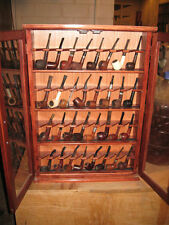 PIPE CABINET RACK CASE 32 Pipe Rack Cabinet Display,Churchwarden,Item 400