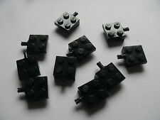 Lego 10 essieux plats noirs set 60018 4432 1665 7990  / 10 black plate modified