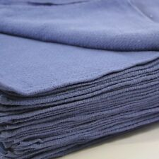 25 New Blue Surgical Huck Cleaning Towels-100% cotton, Machine Washable,reusable