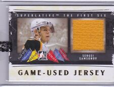 2013-14 ITG SUPERLATIVE HOCKEY SERGEI SAMSONOV GAME USED JERSEY CARD GOLD /10