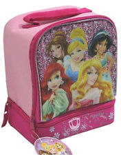 Disney Princess Insulated Dual Compartment Cooler Drink Food Tote Lunch Bag NEW