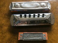 Vintage antique harmonica Impartial & The Nestor made in Germany Friend by Japan