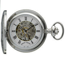 Mount Royal Chrome Plated Half Hunter Pocket Watch, Mechanical ref B26