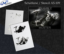 Step by Step Stencil ~~ UMR Airbrush Schablone AS-109 M