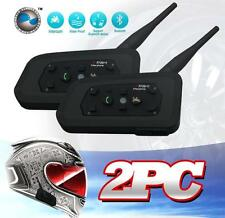 2 x BT Bluetooth Motorcycle Helmet Interphone Intercom Headset 1200M 6 Riders