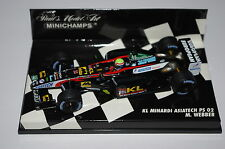 Minichamps F1 1/43 KL MINARDI ASIATECH PS 02 MARK WEBBER