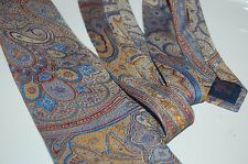 SHIMMERING Embrodered Etro Milano tie paisley multi color silk blend blue red