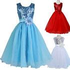Neu Weihnachten Kommunions Hochzeit Festkleider Mädchen Blumenmädchen Kleid