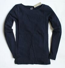 J Crew - XXS - NWT - Navy Blue Long Sleeve Cotton Boat Neck Painter Tee