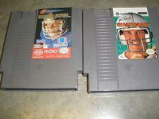 Tecmo Super Bowl/ QUARTERBACK (Nintendo Entertainment System, 1991) Tested Works