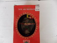 MATRIX CHRISTMAS TRADITIONS SANTA HANG-GLIDING SOLAR MOTION ORNAMENT NEW IN BOX
