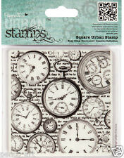Docrafts urban rubber watch stamp 9x9cm BEAUTIFUL TIME PIECES fob watches