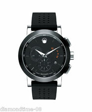 NEW MOVADO MUSEUM SPORT BLACK DIAL CHRONOGRAPH MEN'S WATCH 0606545
