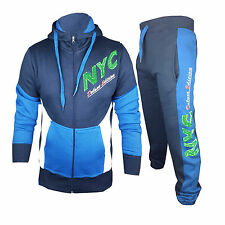 New Men's Boys Luxuary Fleece Zip up Full TrackSuit Jogging Bottoms Hoodie Top