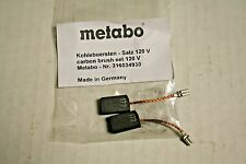 New Metabo Carbon Brush Set for Metabo Grinders/ Part # 316034930