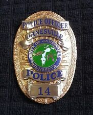 Obsolete City of Janesville Minnesota Police Officer badge *Hallmarked* RARE