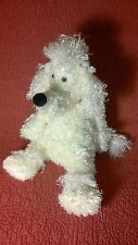 "17"" Cream Shaggy Poodle JellyCat Puppy Dog Red Collar Bunglie Plush Stuffed Toy"