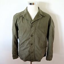 VINTAGE ORIGINAL WW2 USN US NAVY M41 M-41 N-4 N4 FIELD DECK JACKET SIZE 44