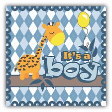 """Baby Shower Giraffe It's A Boy Car Bumper Sticker Decal 5"""" x 5"""""""