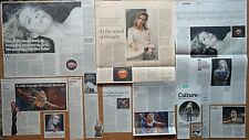 No's Knife - theatre clippings/reviews & 1 leaflet flyer - Lisa Dwan