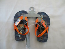 NWT Disney Store Miles Tomorrowland Boy's Ankle Strap Flip Flop Size 7/8