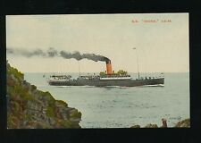 Shipping IOM Isle of Man Steam Packet Co SS MONA  Steamer c1910/30s? PPC