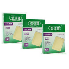 Waterproof 30PCs/3Boxes 7.6cmX10.1cm Large Band Aid Bandages For Large Wounds