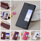 View Window PU Leather Book Case Cover Stand For HuaWei Ascend P7/Honor 6 KLX