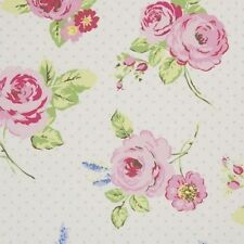"Clarke and Clarke English Rose Chintz Fabric 137cm/54"" wide"