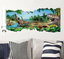 Creative 3D Jurassic Dinosaur Kids Room Decor Wall Sticker Boy Gift Wall Decals
