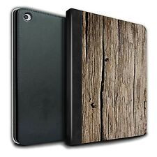 STUFF4 PU Leather Book Case/Cover for Apple iPad Air 2/Wood Grain Effect/Pattern