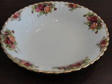 "ROYAL ALBERT OLD COUNTRY ROSE ROUND VEG BOWL 9 1/2"" ENGLAND"