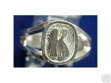 LOOK Sterling Silver Initial Letter K Ring Jewelry