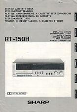 SHARP - RT-150H - Bedienungsanleitung Manual - B2001