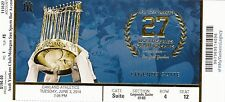 2014 YANKEES VS ATHLETICS JETER LAST YEAR SUITE TICKET STUB 6/3 WS TROPHY