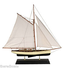 "1930s Classic Yacht Wooden Model Sailboat Large 22"" - AS135"