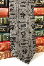 New Frontier Mens Tie Old West Dead or Alive Wanted Posters Frank James T315