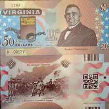US STATES VIRGINIA 10th STATE 2014 COMMEMORATIVE POLYMER NOTE USA SELLER !
