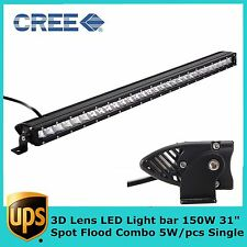 31inch 150W Offroad Single Row CREE LED Light Bar 3D Optical Car ATV SUV RZR 30""